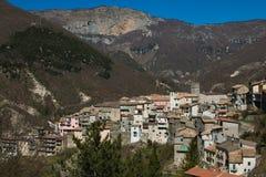 Vallepietra medieval village in the park of Monti Simbruini Stock Photos
