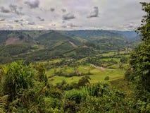 Valles de la montaña Imagen de archivo