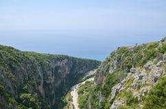 Valles de la playa de Gjipe, Albania Imágenes de archivo libres de regalías