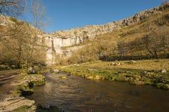 Valles de North Yorkshire de la ensenada de Malham Fotografía de archivo libre de regalías