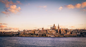 Valleta zmierzch Zdjęcia Royalty Free