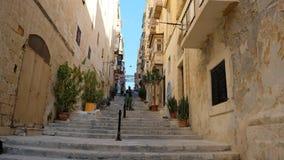 Valletta ανηφορικό στοκ εικόνες