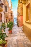 Valletta - πρωτεύουσα της Μάλτας Στοκ φωτογραφίες με δικαίωμα ελεύθερης χρήσης