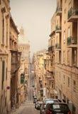 Valletta. View of a street of Valletta in Malta stock image