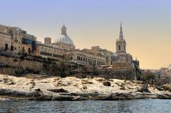 Valletta. Coastline in the harbour of Valletta. Malta royalty free stock images