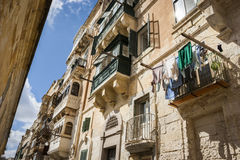 Valletta. An alley in the city of Valletta, Malta, Southern Europe stock photos