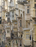 Valletta. The balconied houses of Valletta, UNESCO World Heritage Site, capital city of Malta, Europe Stock Photo