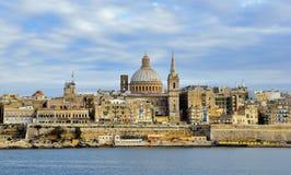 Valletta-alte Stadt, Malta Stockbild