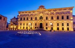 Valletta. Auberge de Castille. Auberge de Castille in Valletta at dawn. Malta Stock Photos