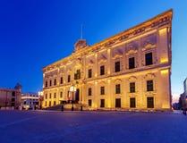Valletta. Auberge de Castille. Auberge de Castille in Valletta at dawn. Malta Royalty Free Stock Photo
