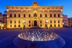 Valletta. Auberge de Castille. Auberge de Castille in Valletta at dawn. Malta Stock Photo