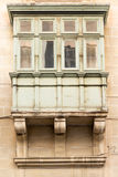 Valletta balconies. Balconies on traditional Maltese house in the capital city of Valletta, Malta Stock Photo