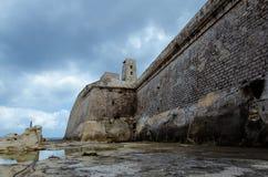 Valletta bastiony Malta Zdjęcie Royalty Free