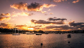 Valletta Bay Sunset Royalty Free Stock Image