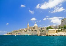 Valletta, capital de Malta. Fotografía de archivo