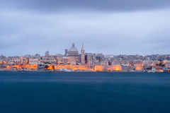 Valletta, capital of Malta at night Stock Photography