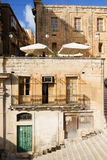 Valletta city streets - Malta with traditional houses.  Stock Photography