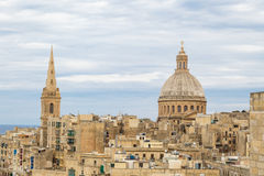 Valletta Cityscape View Royalty Free Stock Photo