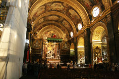 Valletta co-cathedral Royalty Free Stock Photos