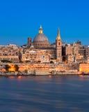 Valletta in the Evening, Malta. Valletta in the Evening,  Malta Royalty Free Stock Photos