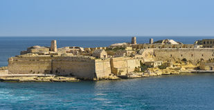 Valletta Fort Rinella Malta. View of Fort Rinella from St. Elmo, Valetta, Malta Stock Image