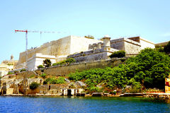 Valletta fortification, Malta. stock images
