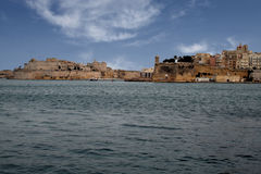 Valletta fortification. A view of the historic city of la valletta on malta island Royalty Free Stock Photo