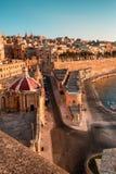 Valletta am frühen Morgen Lizenzfreie Stockfotos