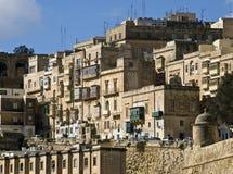 Valletta-Gebäude Stockfoto