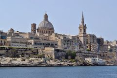 Valletta, Grand Harbor, Malta Royalty Free Stock Images