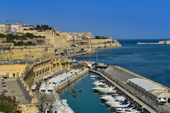 Valletta grand harbor Malta Royalty Free Stock Photo
