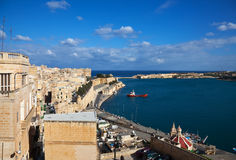 Valletta and Grand Harbour Stock Images
