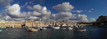 Valletta-Hafen lizenzfreies stockbild