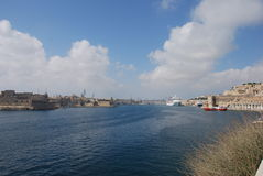 Valletta hamn Royaltyfria Bilder