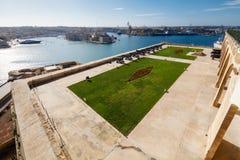 Valletta hamn Arkivbild