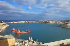 Valletta hamn, Malta Fotografering för Bildbyråer