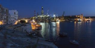 Valletta harbor Stock Image