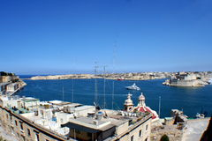 Valletta harbour. On the Maltese island of Malta Stock Image
