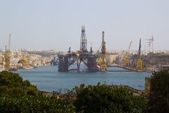Valletta harbour. Harbour at Birgu seen from Valletta, on the island of Malta Stock Images