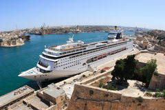 Valletta harbour with Cruise Royalty Free Stock Photos