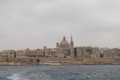 Valletta, historisch centrum, hoofdstad van Malta Stock Foto