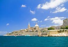 Valletta, Hoofdstad van Malta. Stock Fotografie