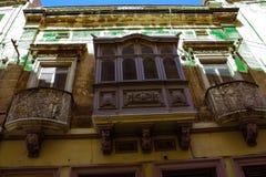 Valletta hus Arkivbild