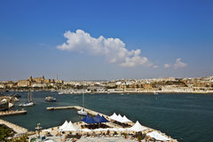 Valletta on the isle of Malta cityscape. Stock Image