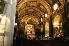 Valletta katedra Zdjęcia Royalty Free