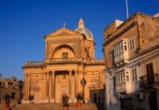 Valletta kyrka Arkivbild