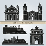 Valletta landmarks and monuments Royalty Free Stock Photos