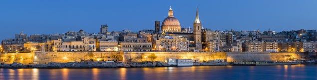 Valletta linia horyzontu Zdjęcia Stock