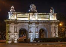 Valletta. The main road entrance gates to Valletta Malta Stock Photos