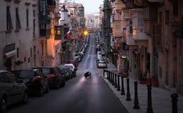 valletta malta февраль 6 в утре стоковое изображение